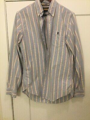 Ralph Lauren Rugby University Oxford Stripe Button Down Casual Dress Shirt Sz M!