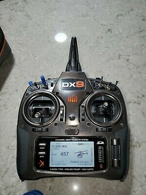 Spectrum DX9 Silver Edition 9 Channel Transmitter Mode 2 With Zip up hard Case
