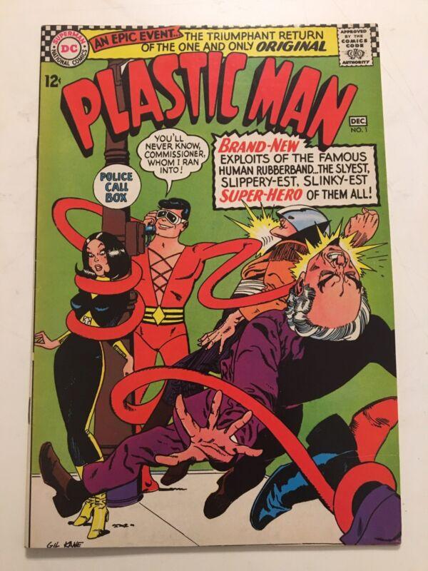 Plastic Man #1 Gill Kane  1966 1st Silver Age Plastic Man Unpressed High Grade