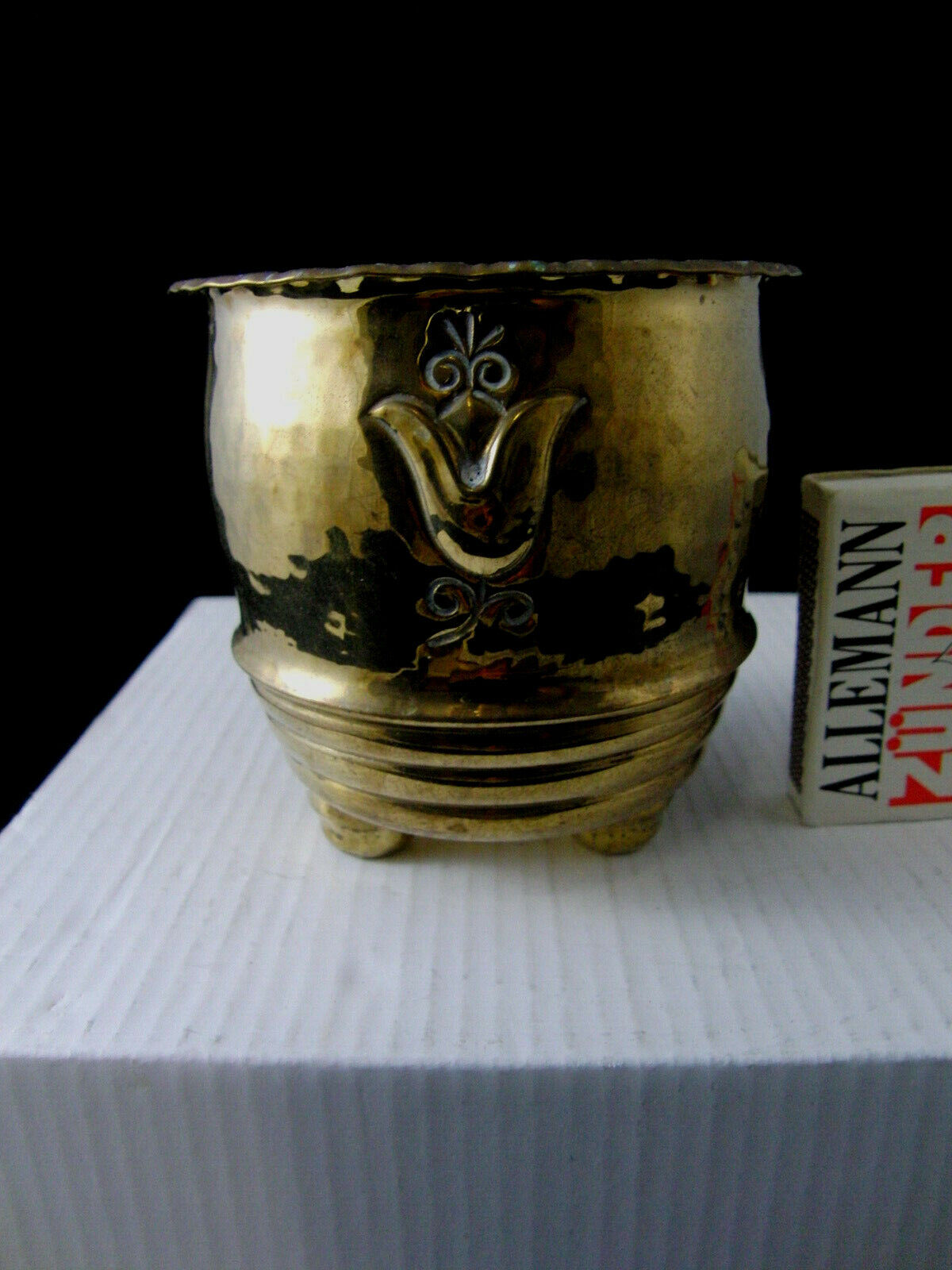 Kleiner Cachepot Art Deco Messing Brass NMK 218 Neue Münchner Kunst um 1925 TOPP