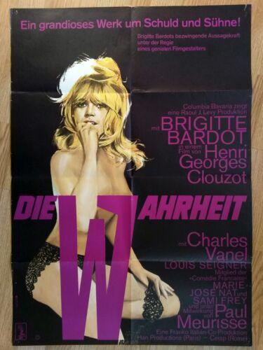 BRIGITTE BARDOT rare 1 sheet poster - THE TRUTH - 1960s - HENRI-GEORGES CLOUZOT