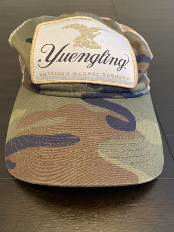 New Yuengling Beer Patch Camo Green Trucker Hat Adjustable OS Embroidered Cap