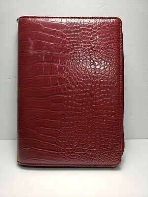 Franklin Covey Day-one 1.5 7 Ring Red Faux Leather Planner Binder