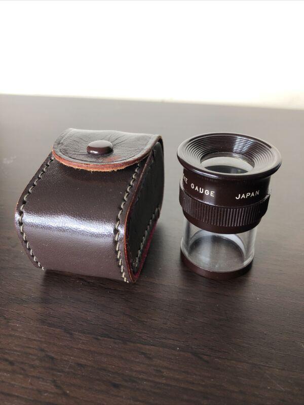 Vintage Lafayette Japan Measuring Magnifier & Case Single Eye Gauge