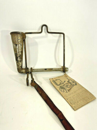 Rare Antique Dr LeGears Stock Remedies Horse w/ paper Medicine Dispenser Bit