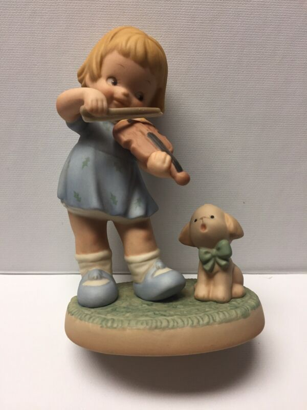 MIB Memories of Yesterday 524654 Join Me For a Little Song, Girl w/ Violin & Dog
