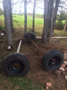 """Two 3500lb 4"""" drop trailer axles with springs"""