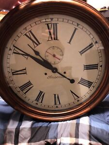 Antique Ansonia wall clock converted to battery