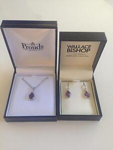 Amethyst Earrings and Necklace Wakerley Brisbane South East Preview