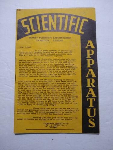 Vintage SCIENTIFIC APPARATUS catalog - Tracey lab - 32pgs