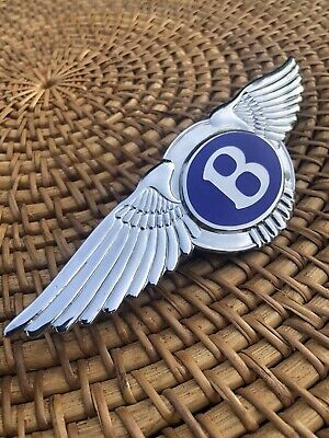 Bentley Continental GT Front Grill Flying Spur OEM Emblem- NEW Free Shipping