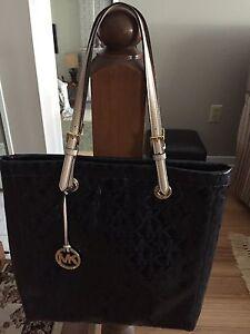 Michael Kors black patent handbag