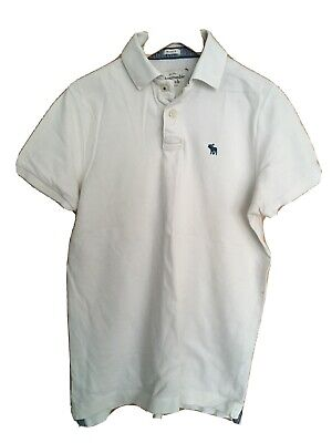 abercrombie and fitch Mens Polo Shirt Large In White