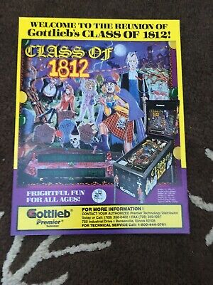 Class Of 1812 pinball Machine flyer