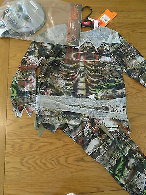 BNWT boy zombie skeleton halloween fancy dress up.Hologram. 5-6 yrs. Sainsbury - Sainsbury Halloween Fancy Dress