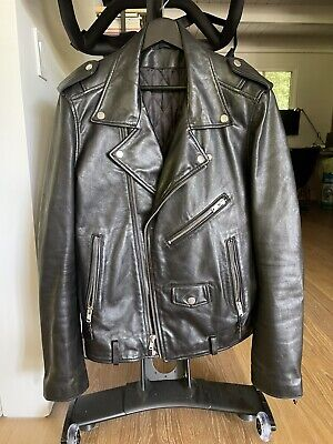 BLK DNM Leather Motorcycle Jacket Large