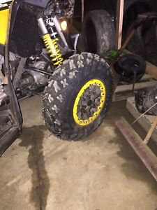 Can am tires and wheels.  Beadlock