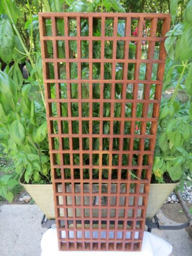 "Antique Wood Wooden Cold Air Return Grate Vent 26"" x 12"" x 1"" Vintage 1930s"