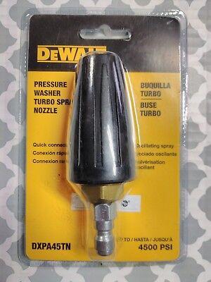 New Dewalt Dxpa45tn Pressure Washer Turbo Spray Nozzle Up To 4500 Psi