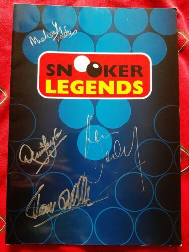 Snooker Legends Signed Programme O'Sullivan Taylor + More