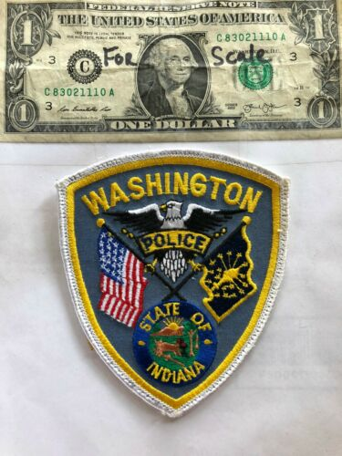 Washington Indiana Police Patch Pre-sewn good shape