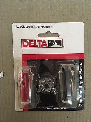 (Delta Innovations Acrylic/CLEAR Lever Handle Accent Model A22CL)