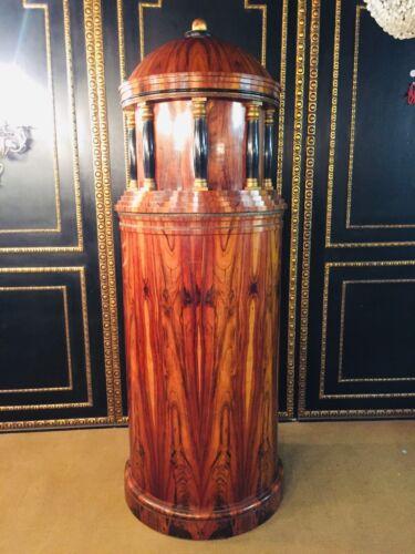 Monumental Secretary Column Shape IN Biedermeier Style Exotic Rosewood