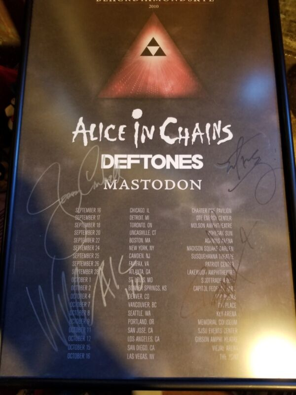 Alice In Chains Autographed Tour Poster
