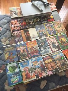 212 VHS movies and VCR FOR THE CABIN!