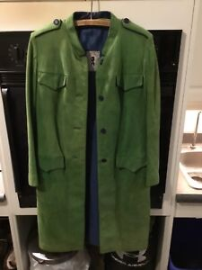 Stunning suede coat with Brazilian Otter insets