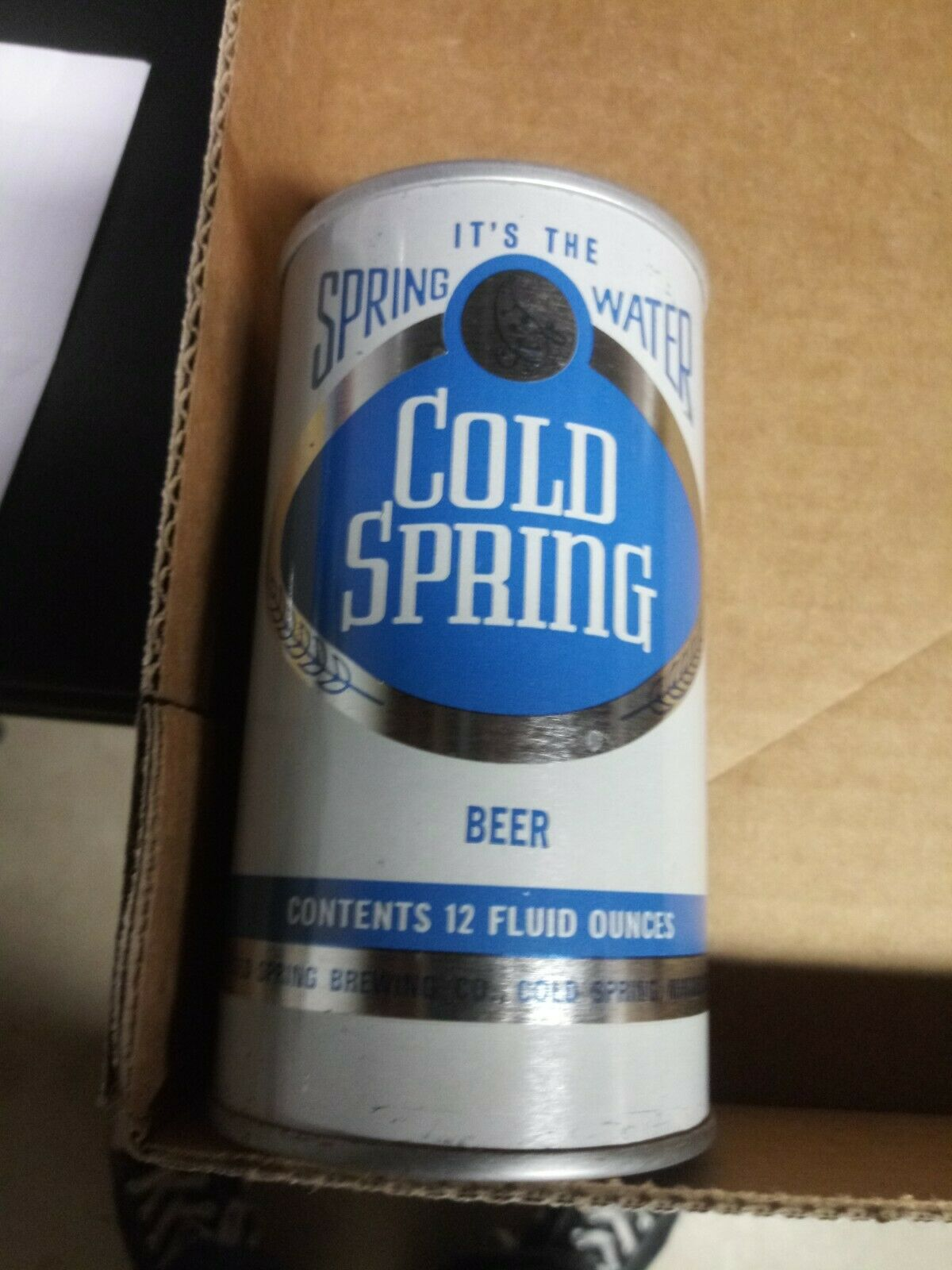 Cold Spring Minnesota Straight Steel Pull Tab Beer Can Metallic Style 2 - $5.99