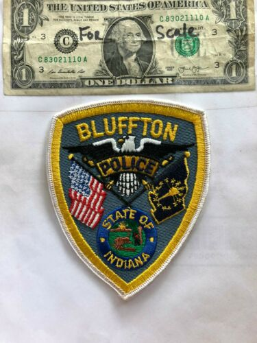 Rare Bluffton Indiana Police Patch Un-sewn great shape