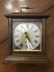 """Vintage 12"""" Linden Quartz Triple Chime Mantle Clock Wooden REPAIR/FOR PARTS"""