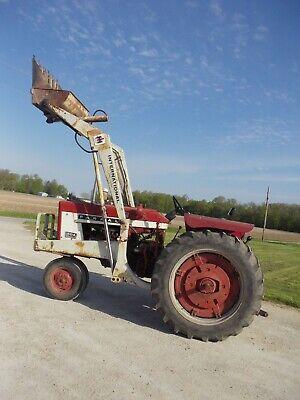 1965 Farmall 504 Tractor 3pt Pto Flat Fenders W Ih 2001 Hydraulic Dump Loader