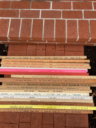 18 Advertising Yard Sticks Berks County Pa & others inc Ford Dealership
