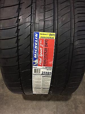 2 New 335 25 20 Michelin Pilot Sport 2 Zp Run Flat  Set Of 2  Tires