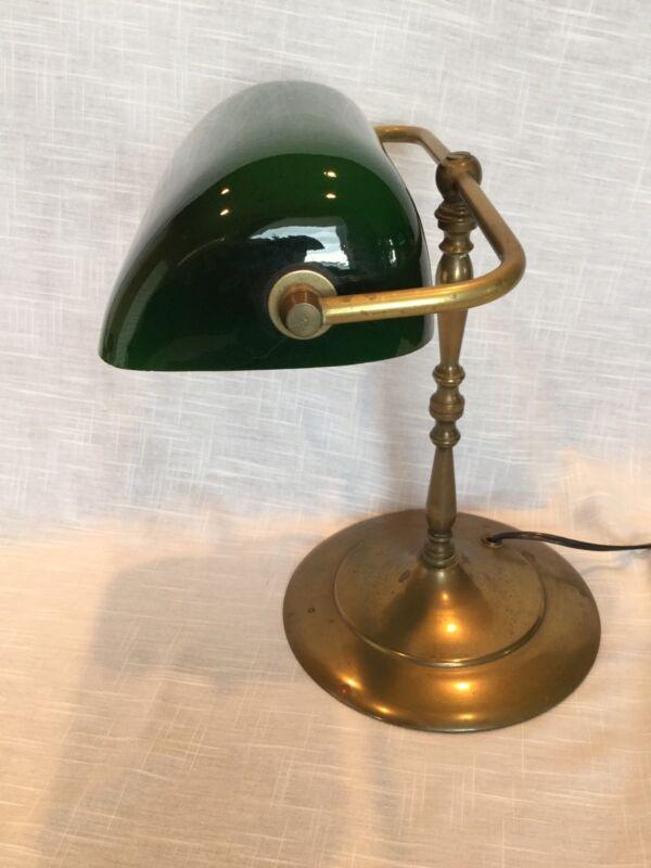 Vintage Emeralite Library Or Bankers Desk Lamp