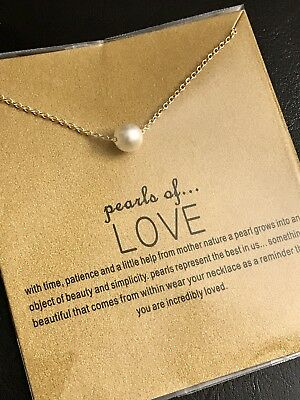 Brand New Pearl of Love Gold Dipped Pearl Necklace Jewelry Gift Dogeared-Style