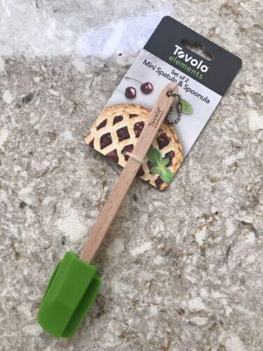 """Tovolo Elements 8"""" Silicone Mini Spatula & Spoonula 2pc Set"""