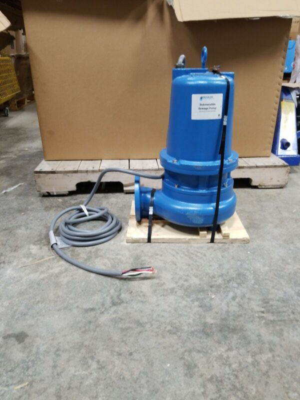 New Goulds Water Technology 3 HP Manual Submersible Sewage Pump 460 Volt 3 Phase