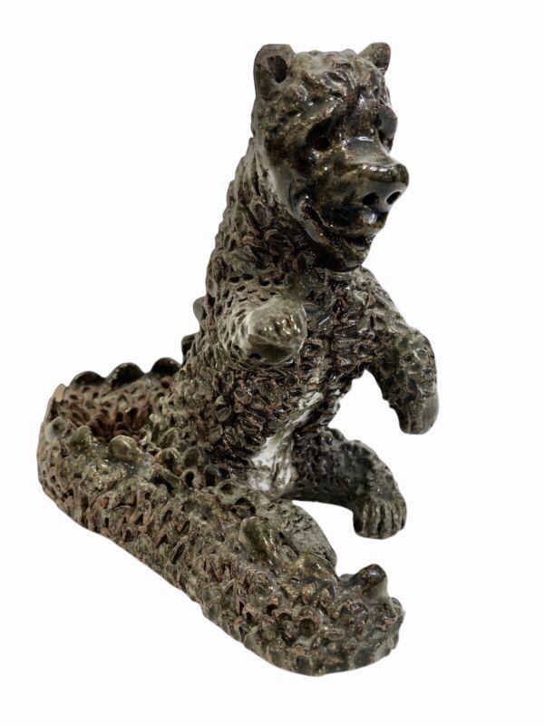 "Hand Made Dragon Mythical Creature Figure 6"" Heavy Pottery Clay Folk Art"