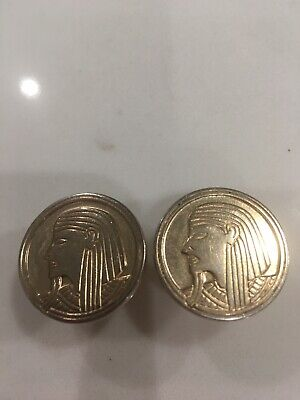Enamel Cufflinks Egypt Cufflinks Black Pharaoh Hand Painted Enamel Coin Jewelry Egyptian Cuff Links Enamelled Coin Cufflinks with Gift Box