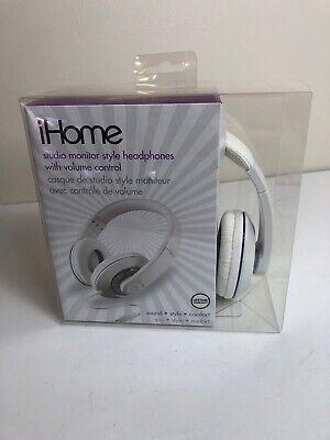 iHome IB40 Headphones Studio Monitor Style w/ Volume Control Brand New