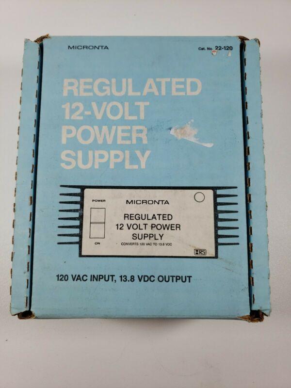 Micronta Regulated 12-Volt Power Supply 120 VAC INPUT 13.8 VDC Output2.5A 22-120