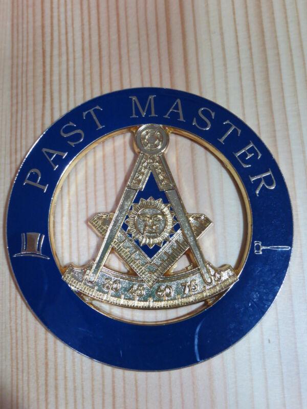 Masonic Auto Car Badge Emblems E5 Mason Freemason PAST MASTER