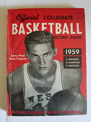 1959 COLLEGIATE BASKETBALL RECORD BOOK JERRY WEST NCAA