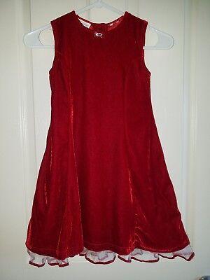 Blueberi Boulevard Red Velvet Holiday Party Dress, Girls 6, 6X.  *Free - Red Velvet Dress Girls