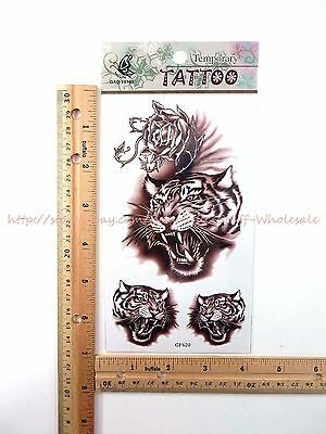 US SELLER- Cheap Fun Stocking Stuffers tiger men women temporary tattoo