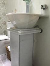 Urgent sale! Stone bathroom pedestal & sink Sans Souci Rockdale Area Preview