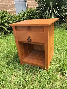 Solid timber bedside table Adamstown Newcastle Area Preview